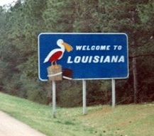 Louisiana Welcome sign