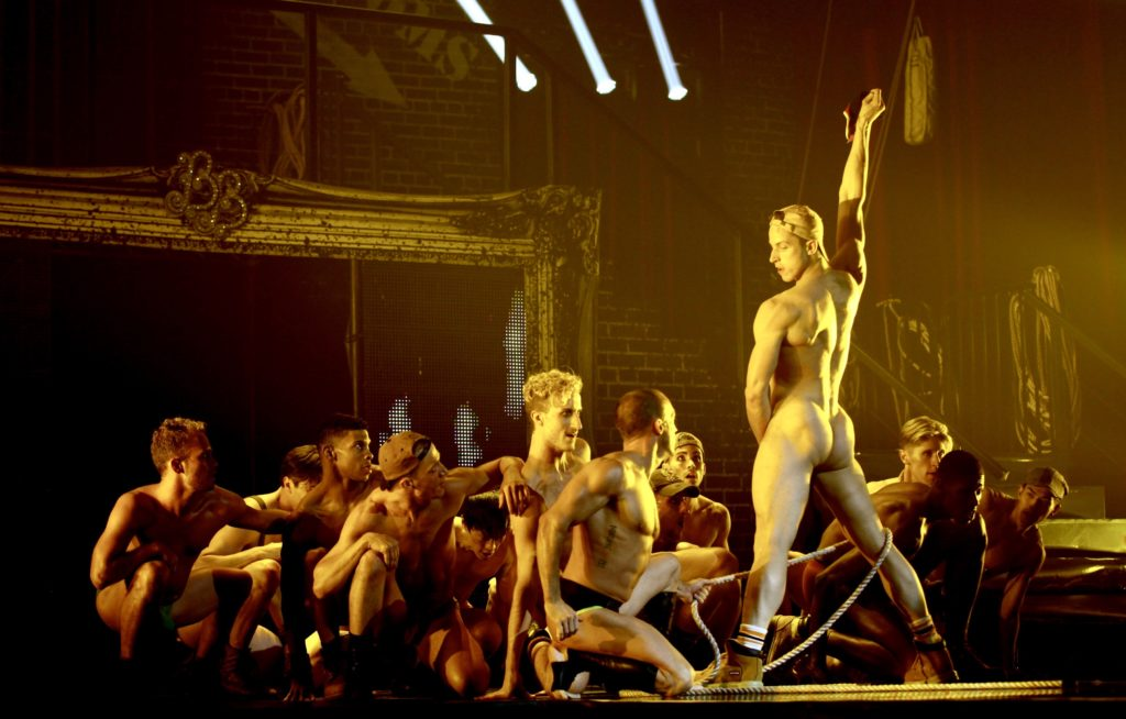 Josh Green and cast, from Broadway Bares 2015 (credit: Benjamin Ryan)